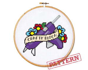 Crafty Bitch Cross Stitch Pattern