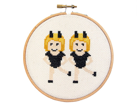 Emoji Dancing Girls Cross Stitch Kit