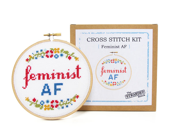 Feminist AF Cross Stitch Kit