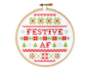 Festive AF Cross Stitch Kit