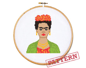 Frida (large) Cross Stitch Pattern