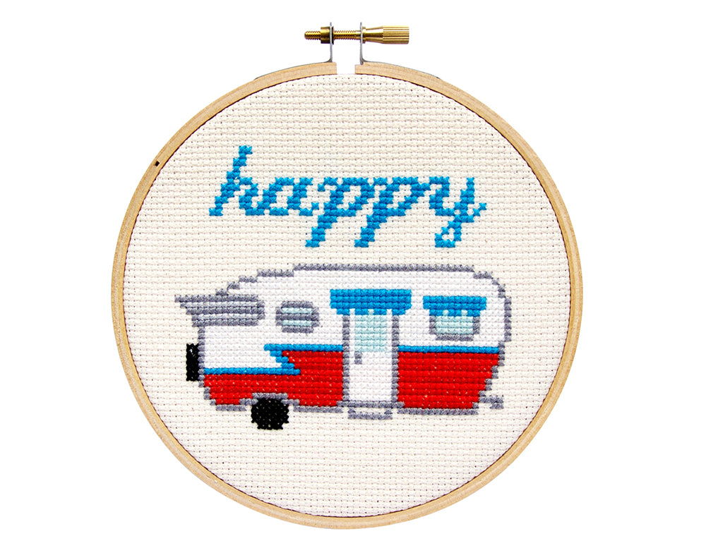 Happy Camper Cross Stitch Kit