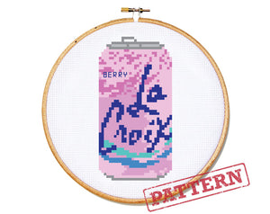 La Croix Can Berry Cross Stitch Pattern