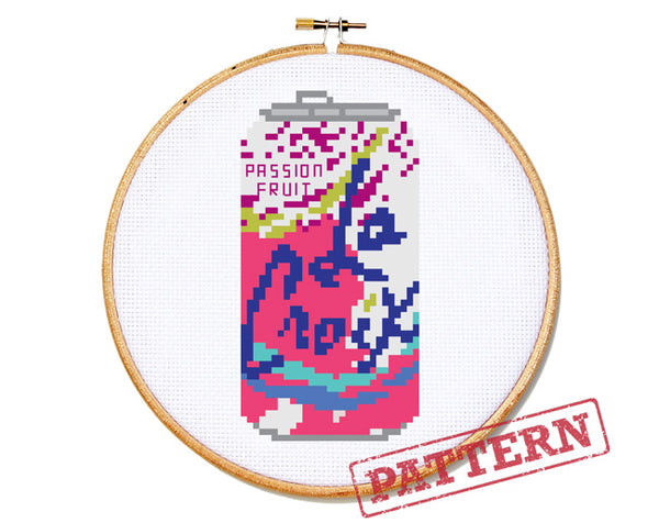 La Croix Can Passion Fruit Cross Stitch Pattern