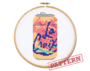 La Croix Can Pamplemousse Grapefruit Cross Stitch Pattern