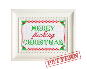 Merry Fucking Christmas Cross Stitch Pattern