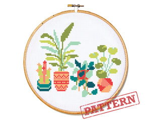 Plant Lover Cross Stitch Pattern