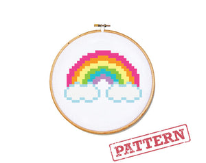 Rainbow Mini Cross Stitch Pattern