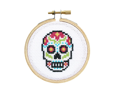 Sugar Skull Mini Cross Stitch Kit