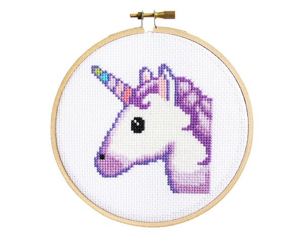 Emoji Unicorn Cross Stitch Kit