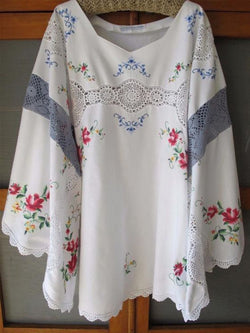 Women's  Casual Round Neck  Floral-print  Half Sleeve Shirt & Tops