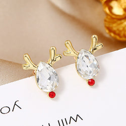 Simple Fawn Christmas Earrings