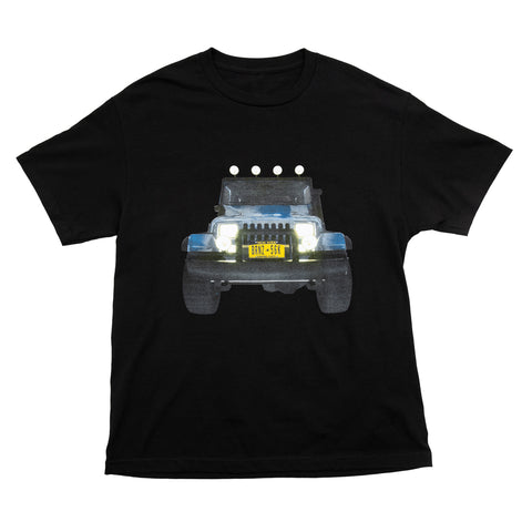 Bronze56k - Jeep Tee Back & Front Print - Black