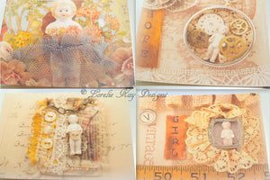 Notecard Set 8 Original Art Printed Frozen Charlotte Doll Pictures Postcard Set