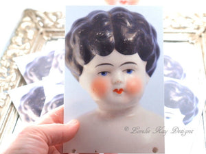 Notecard Set 10 Original Art Printed China Doll Picture Postcard Set