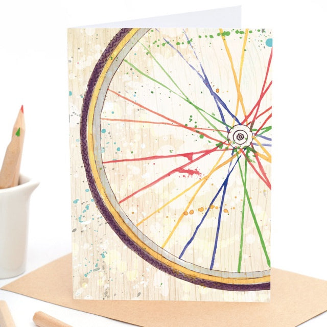 Rainbow Wheel - Greeting Card