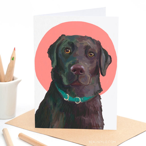 Reggie the Labrador - Greeting Card
