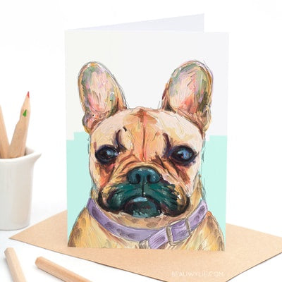 Buster the Frenchie - Greeting Card