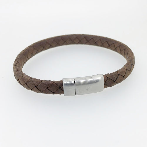 Thin Brown Italian Leather Bracelet