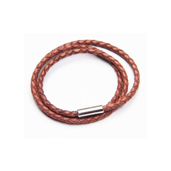 Tan Leather Triple Wrap Bracelet