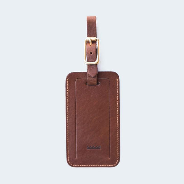 ATKM Leather Luggage Tag