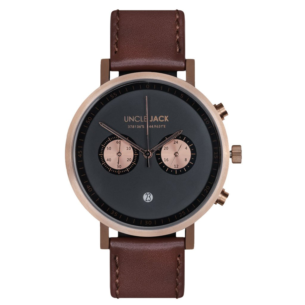 Uncle Jack Gold/Brown Chrono Watch