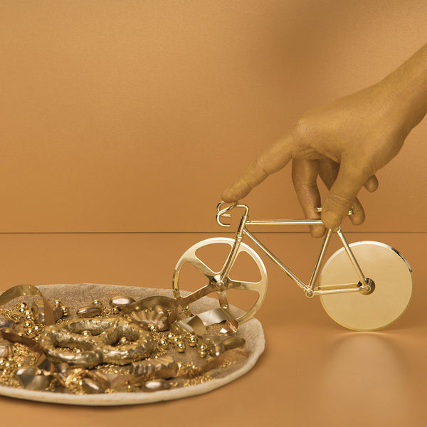 The Fixie Pizza Cutter- Metallic