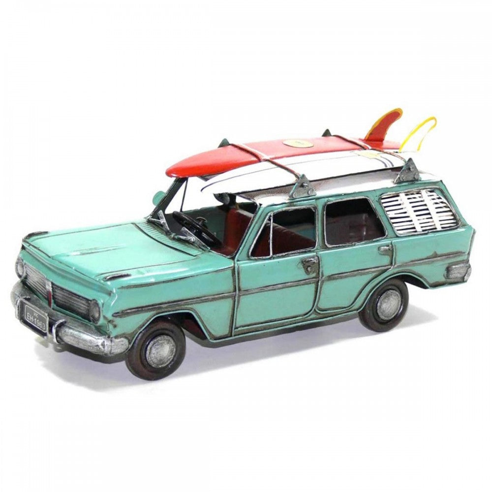 Teal EH Station Wagon w/ Surfboards