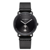 Paul Hewitt Watch Breakwater Line Black Sunray IP Black/Gun Metal Leather Watch Strap Pure Black