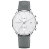 Paul Hewitt Watch Chrono Line White Sand Stainless Steel Canvas Grey