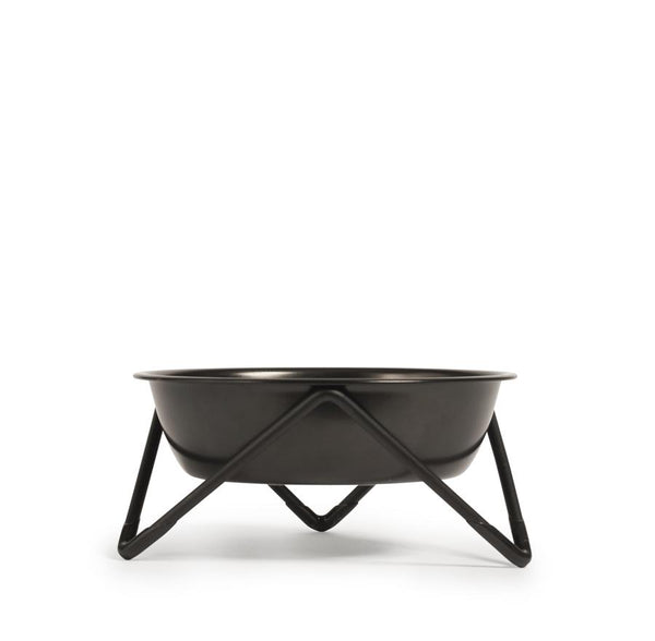Meow Cat Bowl - Black on Black