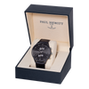 Paul Hewitt Chrono Line Watch Black with Black Leather Strap