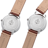 Paul Hewitt Breakwater Line Navy Sunray Stainless Steel Leather Watch Strap Mid Brown