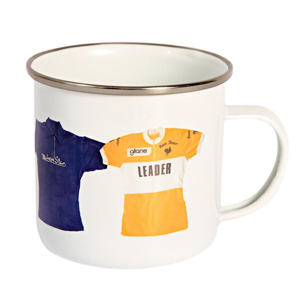 Tour Leader Cycling Jerseys Enamel Mug