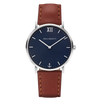 Paul Hewitt Sailor Line Watch Silver/Blue with Brown Leather Strap