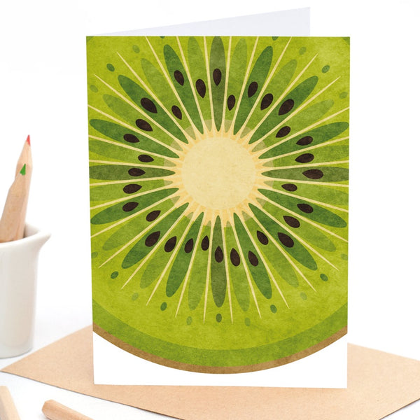 Kiwifruit - Greeting Card