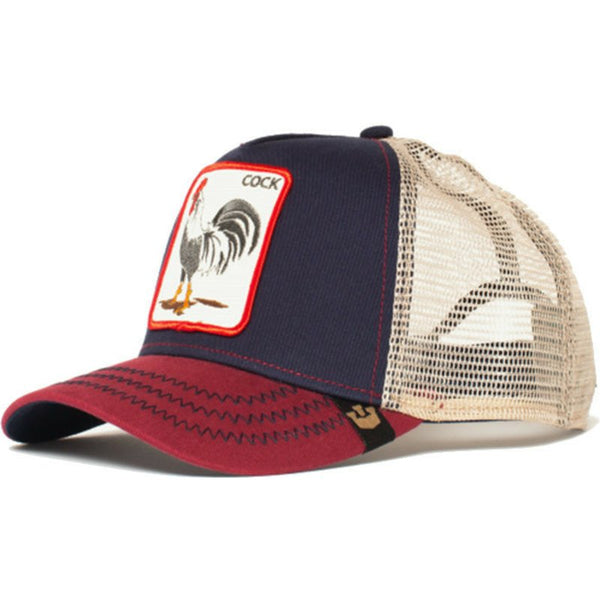 Goorin Bros Animal Farm Trucker Hat Navy All American Rooster