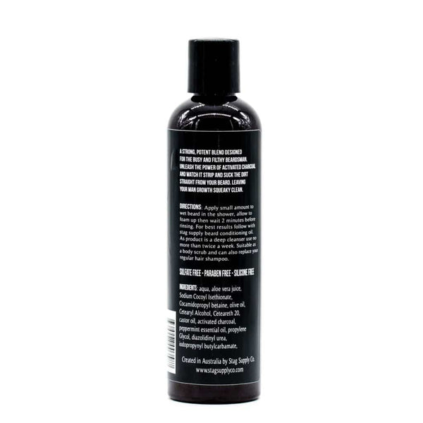 Stag Supply- Peppermint Activated Charcoal Beard Wash