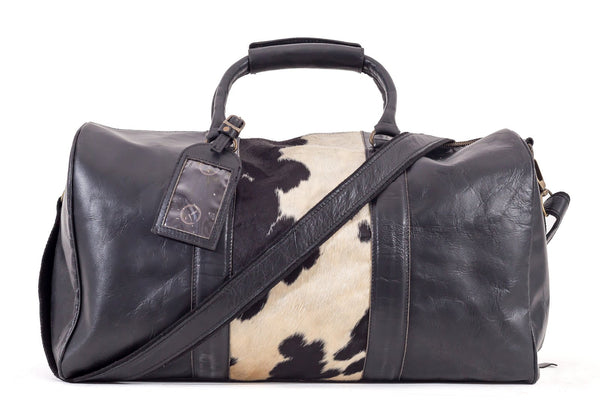 Beckwith Duffle-Hide Panel Black/White