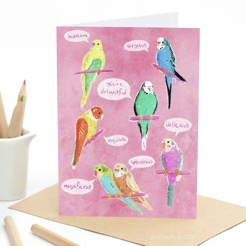 Birds of Endearment - Greeting Card