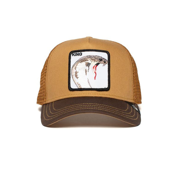 Goorin Bros Animal Farm Trucker Hat Brown Biter King Front