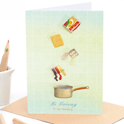 Mi Goreng - Greeting Card