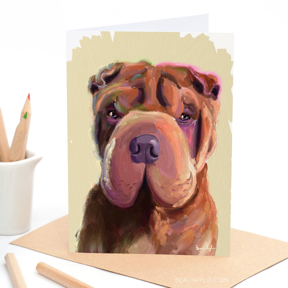 Snoop the Shar Pei - Greeting Card