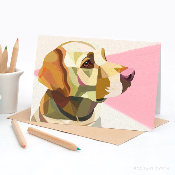 Peter the Labrador - Greeting Card