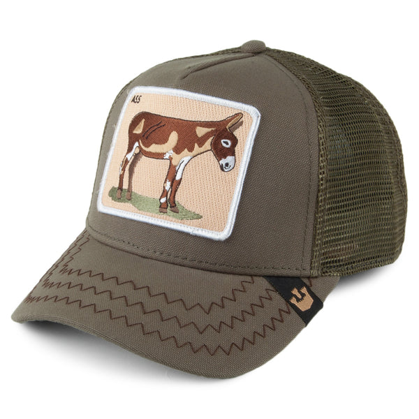 Goorin Bros Animal Farm Trucker Hat Olive Donkey Ass