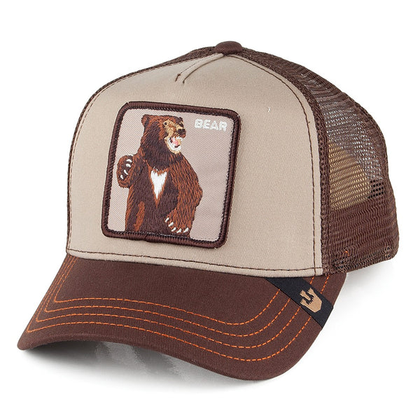 Goorin Bros Animal Farm Trucker Hat Brown Lone Star Bear