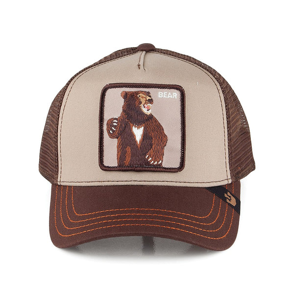 Goorin Bros Animal Farm Trucker Hat Brown Lone Star Bear Front