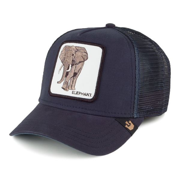 Goorin Bros Animal Farm Trucker Hat Navy Elephant