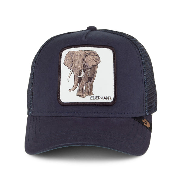 Goorin Bros Animal Farm Trucker Hat Navy Elephant Front