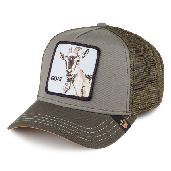 Goorin Bros Animal Farm Trucker Hat Olive Goat Beard